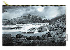 The Falls In Black And White Carry-all Pouch by Andrew Matwijec