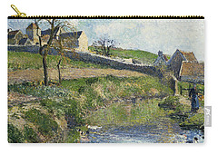 The Farm At Osny Carry-all Pouch by Camille Pissarro