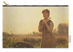 The Farm Girl Carry-all Pouch by Arthur Hacker