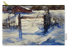 Carry-all Pouch featuring the painting The Farm On Barry by Sandra Strohschein