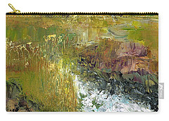 Carry-all Pouch featuring the painting The Farmers Ditch Fall by Frances Marino
