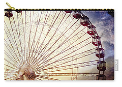 The Ferris Wheel At Navy Pier Carry-all Pouch by Mary Machare