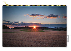Carry-all Pouch featuring the photograph The Fields At Sunset by Mark Dodd