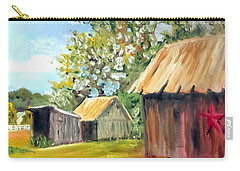 Carry-all Pouch featuring the painting The Field's Farm by Jim Phillips