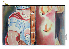 Carry-all Pouch featuring the painting The Fiery Darts Of The Evil One 2 by Kip DeVore