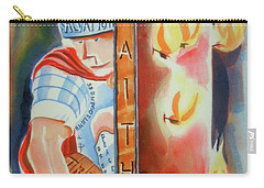 Carry-all Pouch featuring the painting The Fiery Darts Of The Evil One 3 by Kip DeVore
