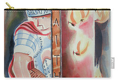 Carry-all Pouch featuring the painting The Fiery Darts Of The Evil One by Kip DeVore