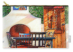 The Fireplace, Table And Door Carry-all Pouch by Kirt Tisdale
