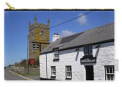 Carry-all Pouch featuring the photograph The First And Last Inn In England by Terri Waters