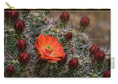 Carry-all Pouch featuring the photograph The First Bloom  by Saija Lehtonen