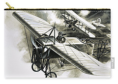 The First Reconnaissance Flight By The Rfc Carry-all Pouch by Wilf Hardy