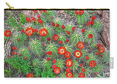 The First Week Of May, Claret Cup Cacti Begin To Bloom Throughout The Colorado Rockies.  Carry-all Pouch by Bijan Pirnia