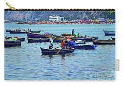 Carry-all Pouch featuring the photograph The Fishermen - Miraflores, Peru by Mary Machare