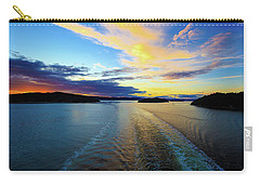 The Fjords Of Kristansand, Norway At Sunset Carry-all Pouch by Allan Levin