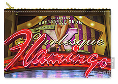 Carry-all Pouch featuring the photograph The Flamingo Burlesque Sign by Aloha Art