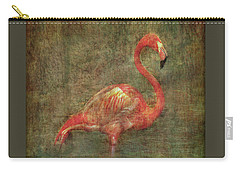 Carry-all Pouch featuring the photograph The Flamingo by Hanny Heim