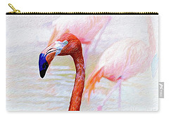 The Flamingo Carry-all Pouch by John Kolenberg