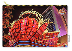 Carry-all Pouch featuring the photograph The Flamingo Neon Sign Wide by Aloha Art