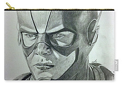 Carry-all Pouch featuring the drawing The Flash by Michael McKenzie