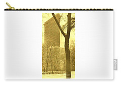 Carry-all Pouch featuring the photograph The Flat Iron Building 1903 Alfred Stieglitz by Peter Gumaer Ogden