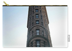 Carry-all Pouch featuring the photograph The Flatiron - Manhattan by Madeline Ellis