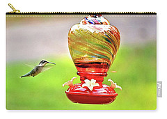The Flight Of The Hummingbird Carry-all Pouch by James Potts