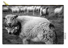The Flock Is Safe Grayscale Carry-all Pouch by Marian Voicu