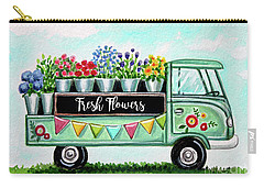 The Floral Truck Carry-all Pouch