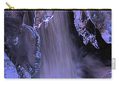 Carry-all Pouch featuring the photograph The Flow Of Winter-2 by Sean Sarsfield