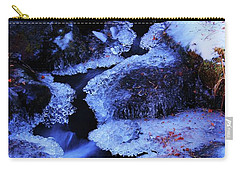 Carry-all Pouch featuring the photograph The Flow Of Winter by Sean Sarsfield