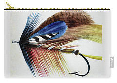 Carry-all Pouch featuring the digital art The Fly by Steve Taylor