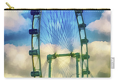 Carry-all Pouch featuring the photograph The Flyer by Joseph Hollingsworth