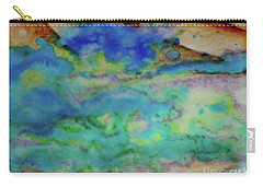 Carry-all Pouch featuring the painting The Fog Rolls In by Kim Nelson