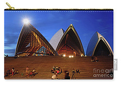 Carry-all Pouch featuring the photograph The Forecourt Sydney Opera House By Kaye Menner by Kaye Menner