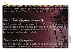 The Four Agreements 3 Carry-all Pouch by Andrea Anderegg