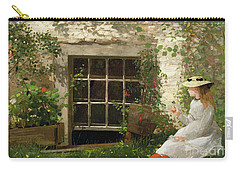 The Four Leaf Clover Carry-all Pouch by Winslow Homer