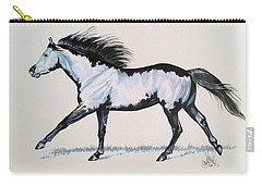 The Framed American Paint Horse Carry-all Pouch by Cheryl Poland