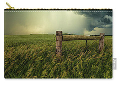 Carry-all Pouch featuring the photograph The Frayed Ends Of Sanity  by Aaron J Groen