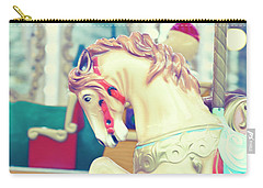 The Galloper - Paris Carousel Print Carry-all Pouch by Melanie Alexandra Price