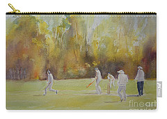 Carry-all Pouch featuring the painting The Game Of Cricket by Beatrice Cloake