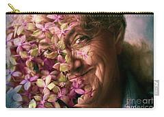 The Gardener Carry-all Pouch by Jean OKeeffe Macro Abundance Art