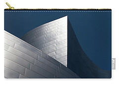 Carry-all Pouch featuring the photograph The Geometry Of Disney Hall by Lorraine Devon Wilke