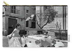 The Runway Bride.taranto. Italy.bw Carry-all Pouch by Jennie Breeze