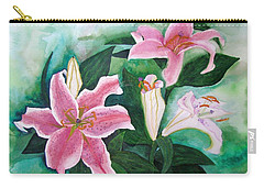 Carry-all Pouch featuring the painting The Gift by Margaret Bobb