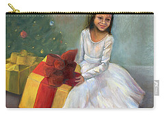 Carry-all Pouch featuring the painting The Gift by Marlene Book