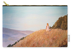 Carry-all Pouch featuring the painting The Girl On The Hill by Alan Lakin