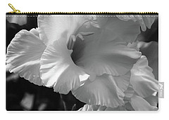 The Gladiolus In Black And White Carry-all Pouch