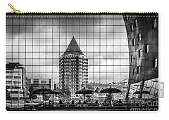 Carry-all Pouch featuring the photograph The Glass Windows Of The Market Hall In Rotterdam by RicardMN Photography