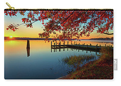 Carry-all Pouch featuring the photograph The Glassy Patuxent by Cindy Lark Hartman