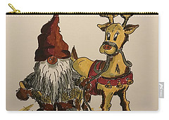 The Gnome And His Reindeer Carry-all Pouch
